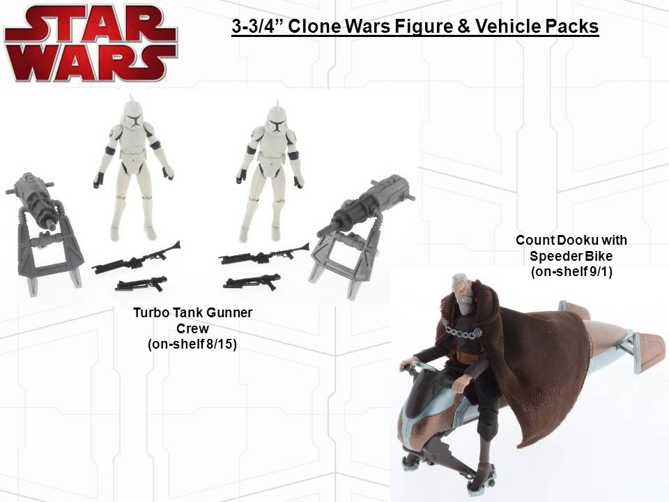 3-3/4 Clone Wars Figure & Vehicle Packs