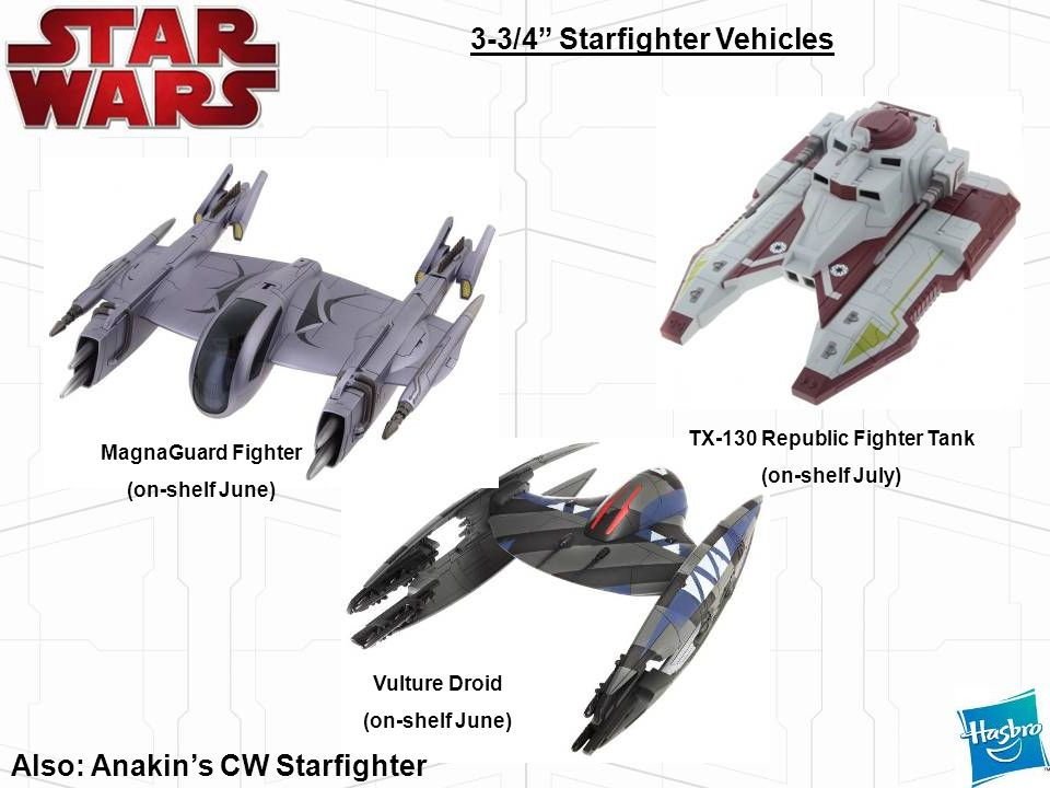 3-3/4 Starfighter Vehicles