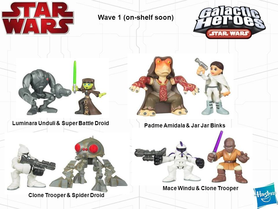 Wave 1 (on-shelf soon) Luminara Unduli & Super Battle Droid