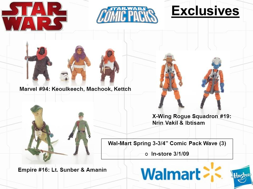 Wal-Mart Spring 3-3/4 Comic Pack Wave (3)