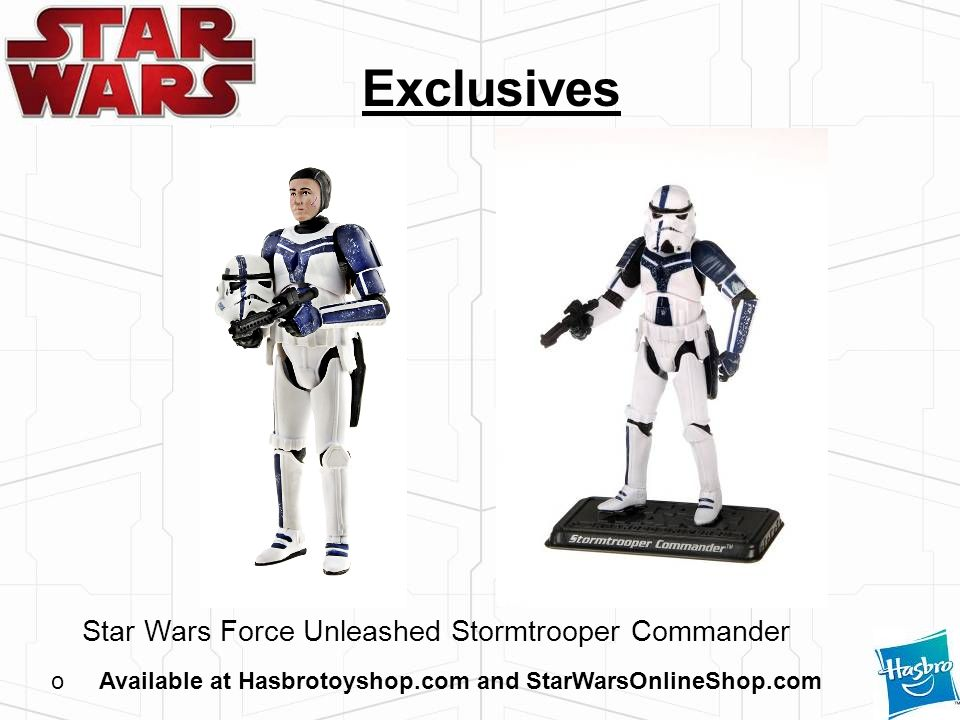 Available at Hasbrotoyshop.com and StarWarsOnlineShop.com