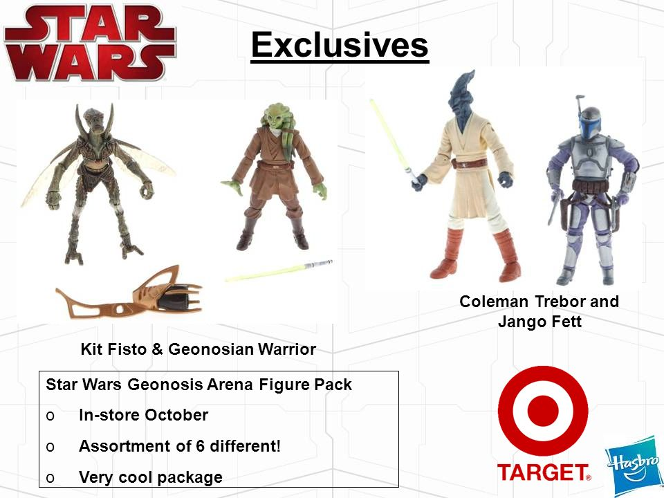Coleman Trebor and Jango Fett Kit Fisto & Geonosian Warrior