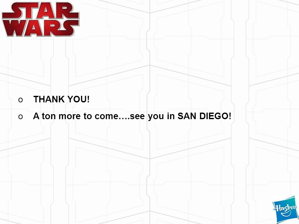 THANK YOU! A ton more to come….see you in SAN DIEGO!