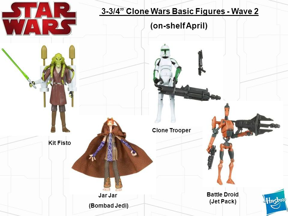 3-3/4 Clone Wars Basic Figures - Wave 2