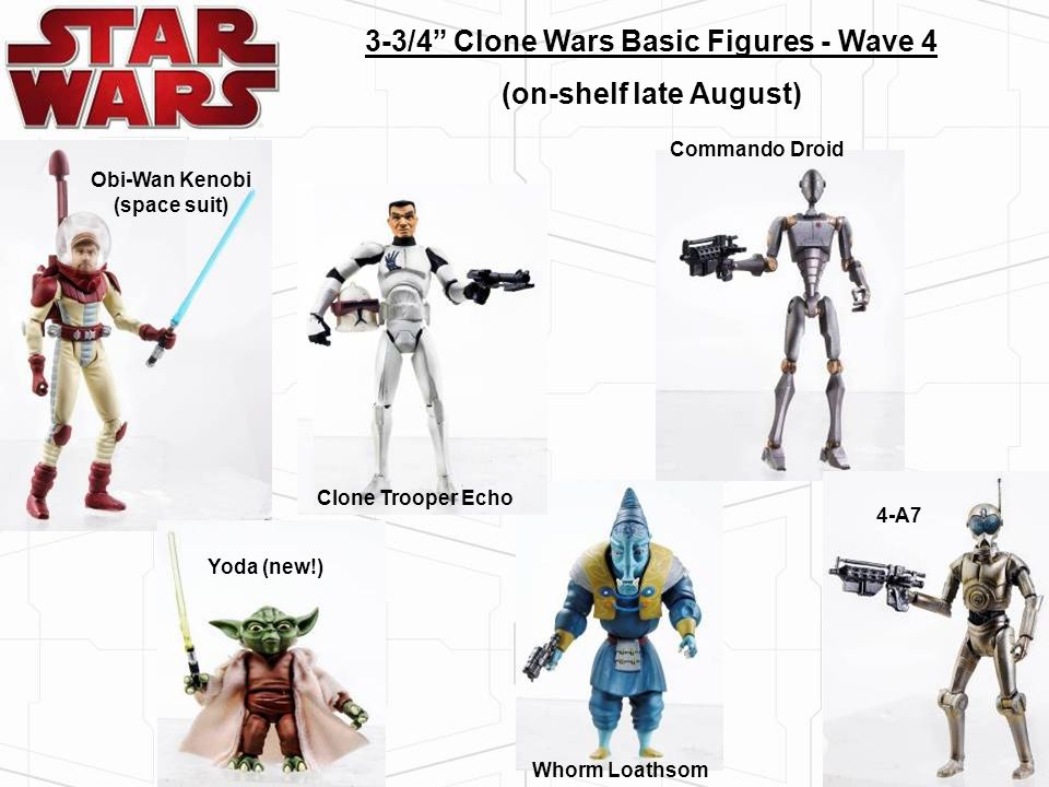 3-3/4 Clone Wars Basic Figures - Wave 4 (on-shelf late August)