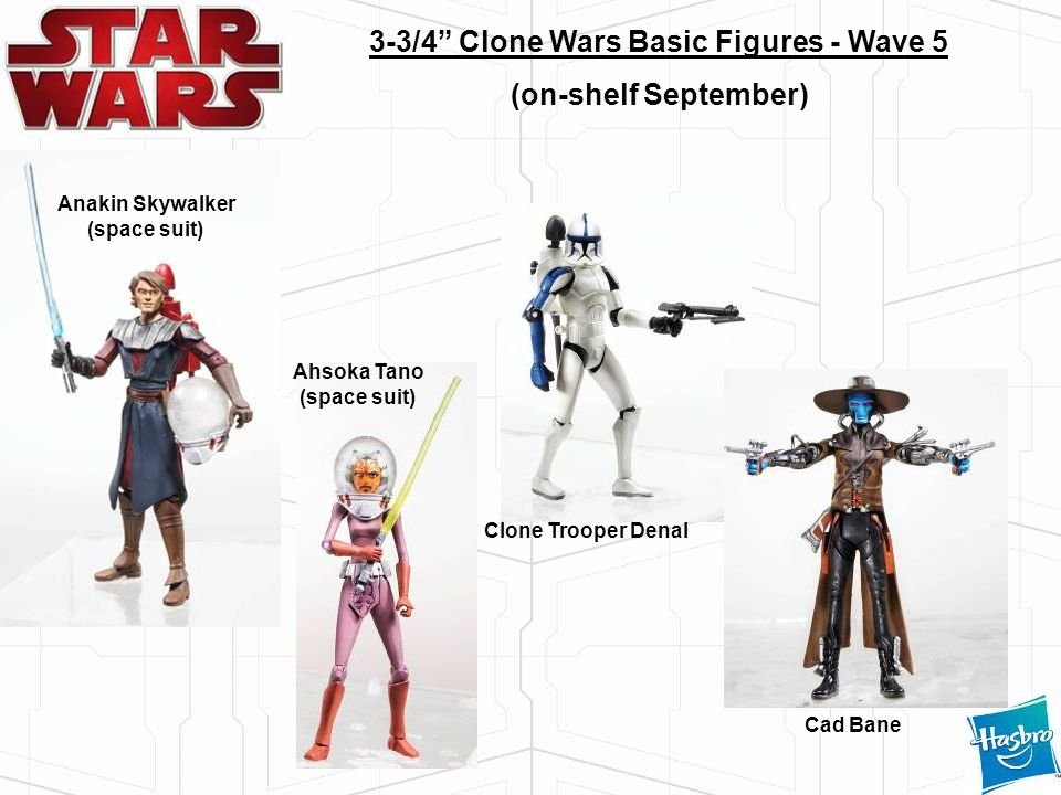 3-3/4 Clone Wars Basic Figures - Wave 5