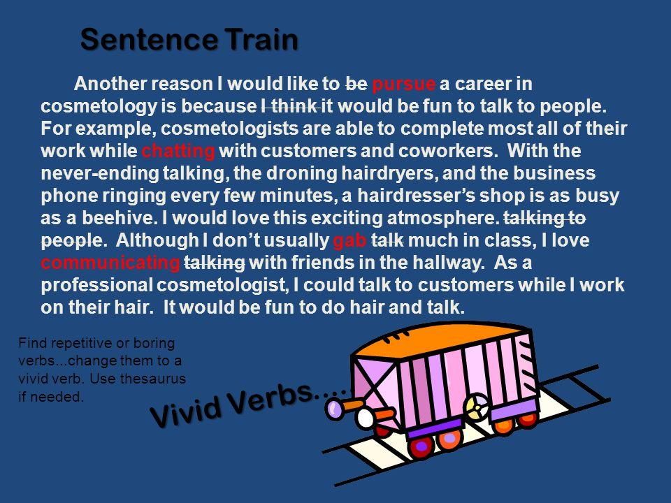 Sentence Train Vivid Verbs.....