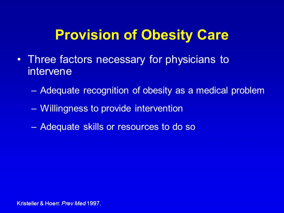 Provision of Obesity Care