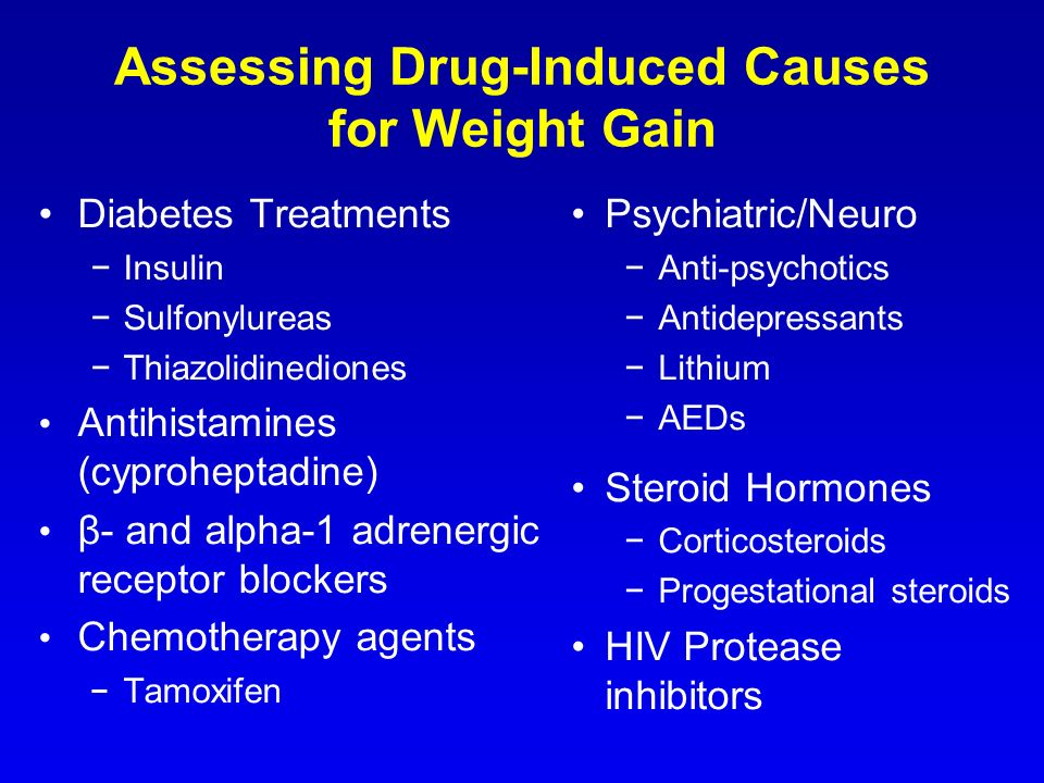 Assessing Drug-Induced Causes for Weight Gain