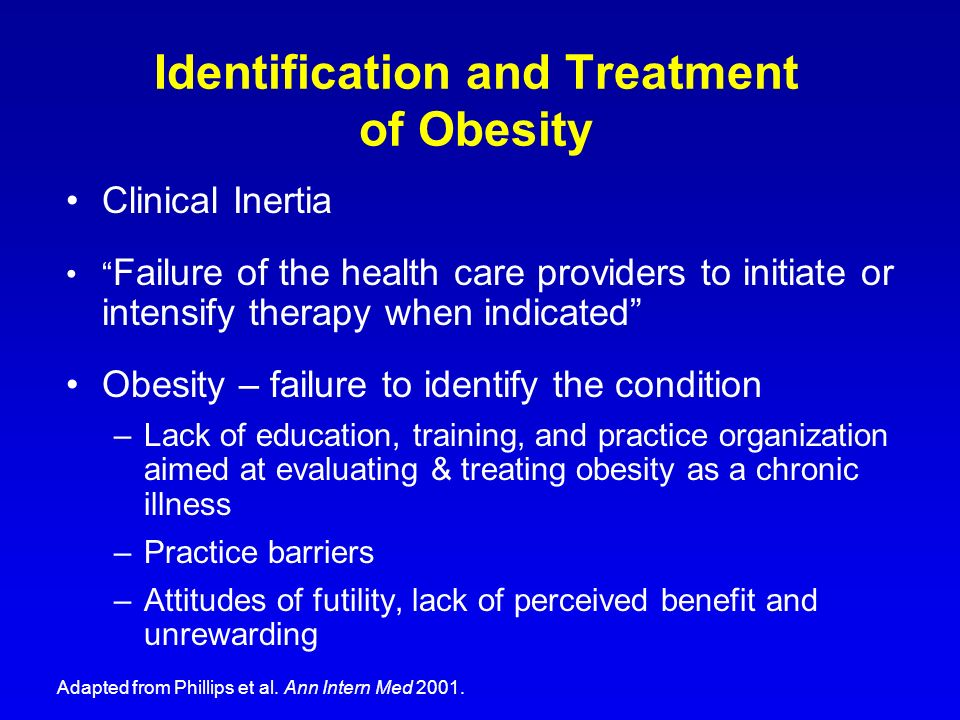 Identification and Treatment of Obesity