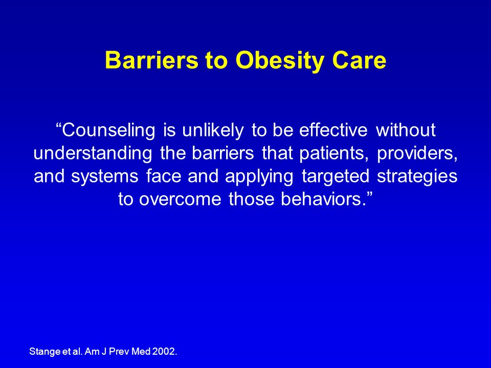 Barriers to Obesity Care