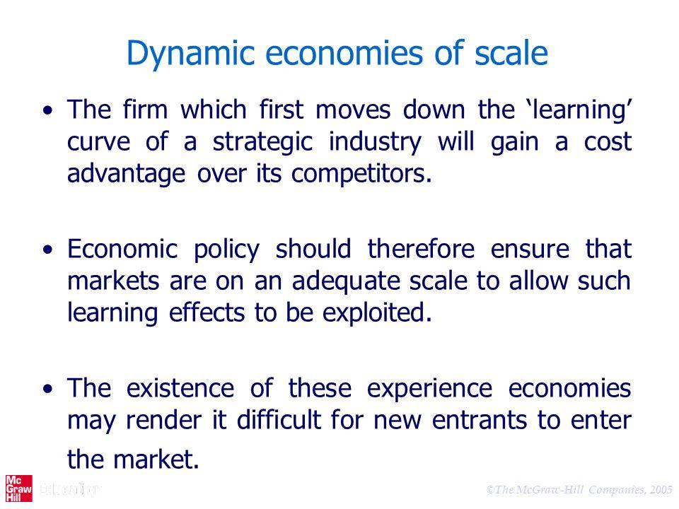 Dynamic economies of scale