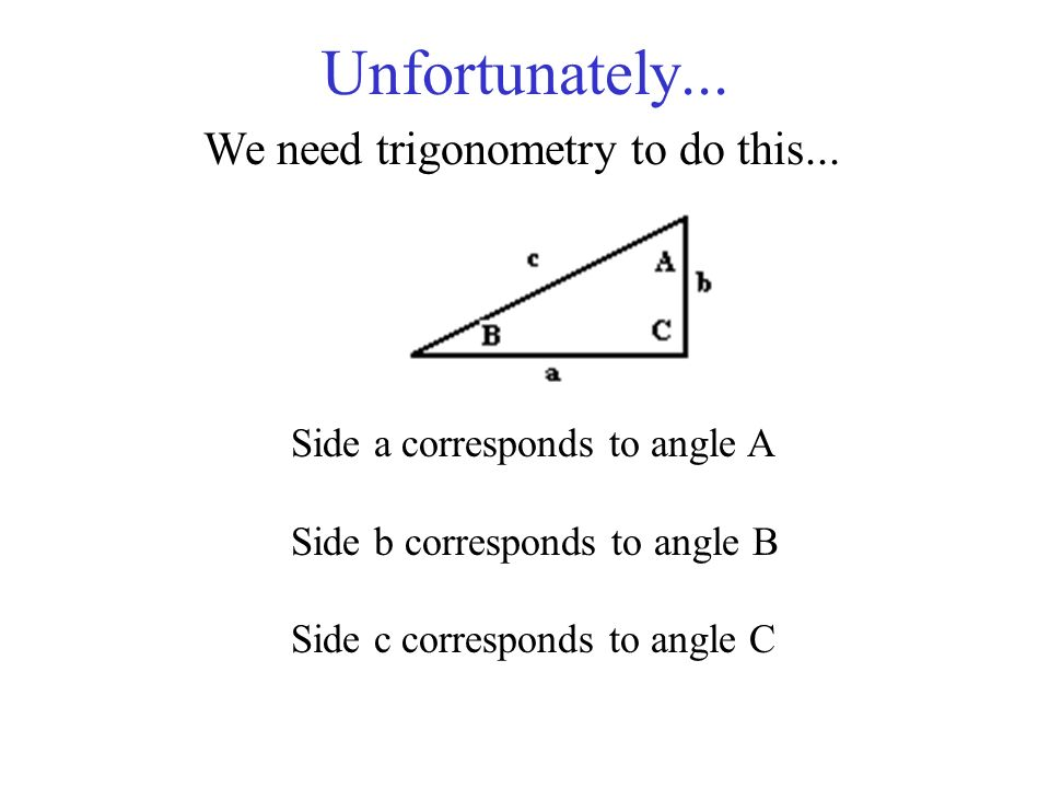 Unfortunately... We need trigonometry to do this...