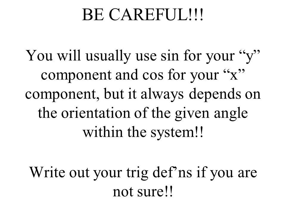 BE CAREFUL!!.