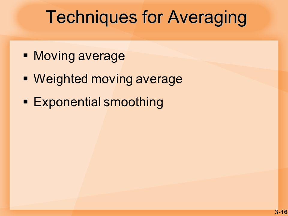 Techniques for Averaging