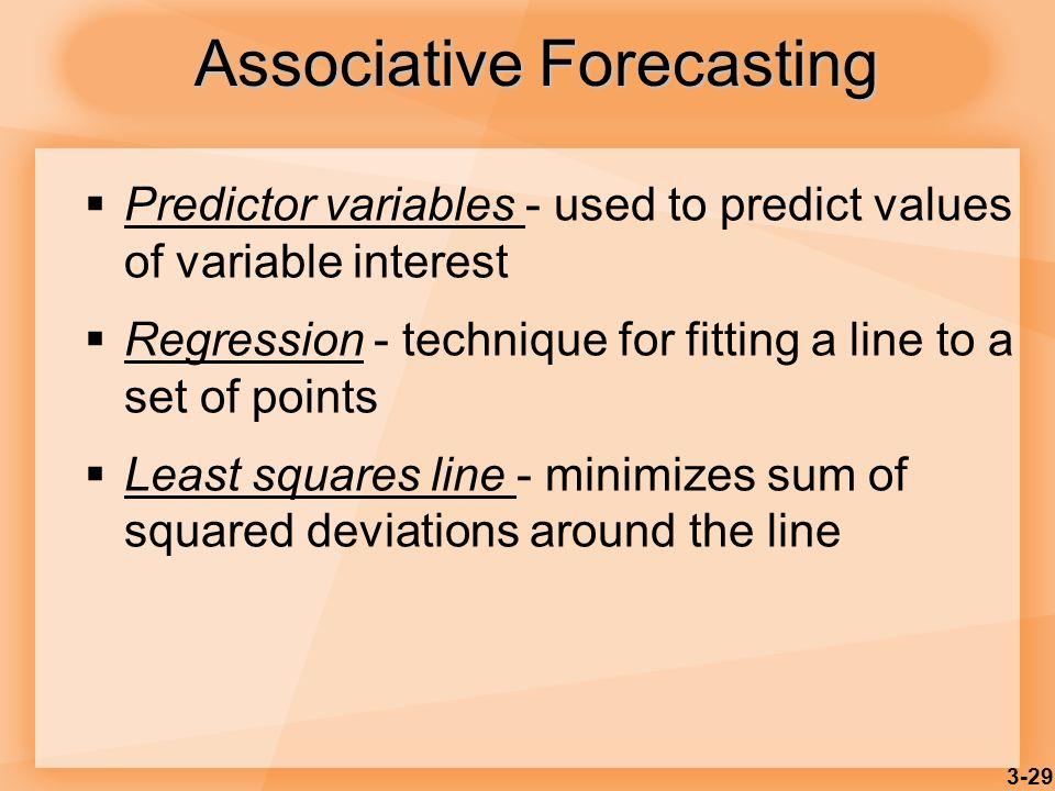 Associative Forecasting