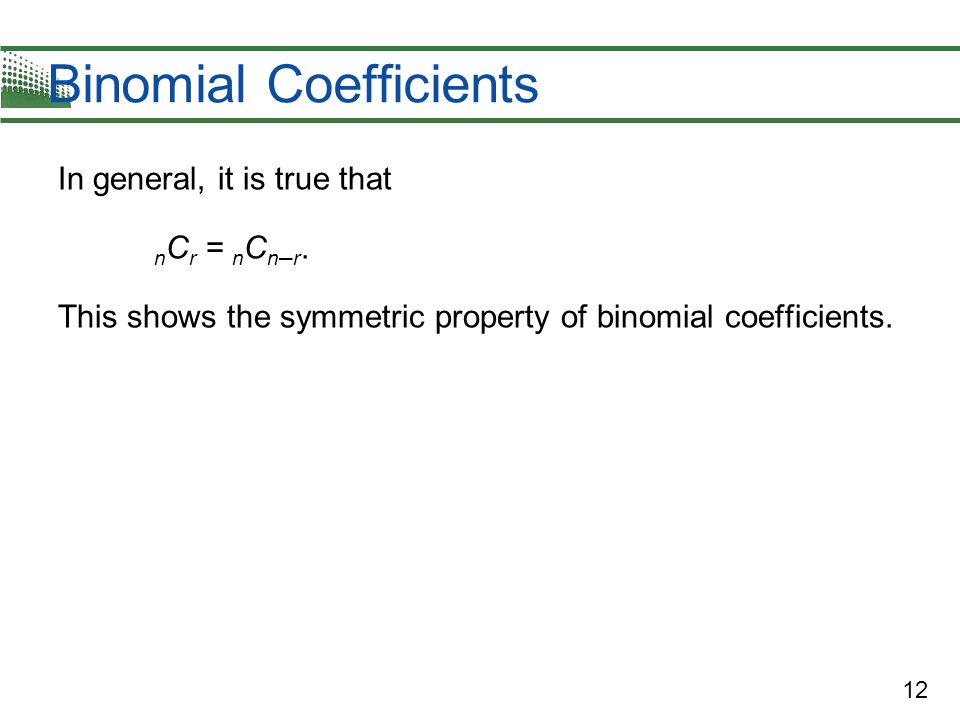 Binomial Coefficients