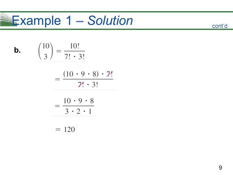 Example 1 – Solution cont'd b.