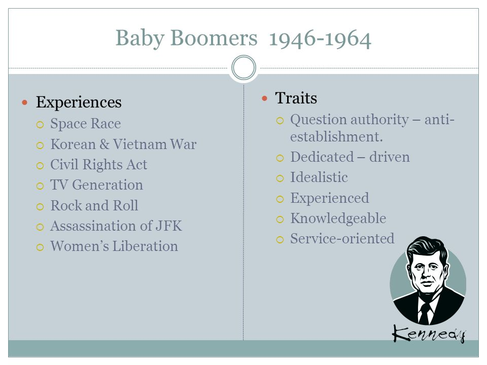 Baby Boomers 1946-1964 Traits Experiences