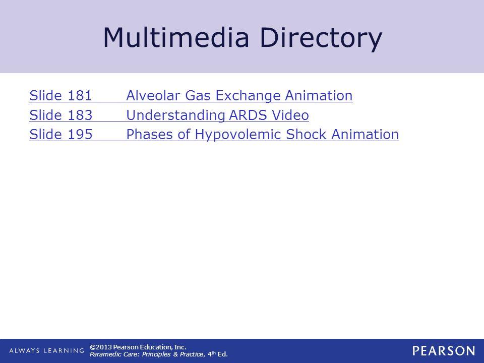 Multimedia Directory Slide 181 Alveolar Gas Exchange Animation