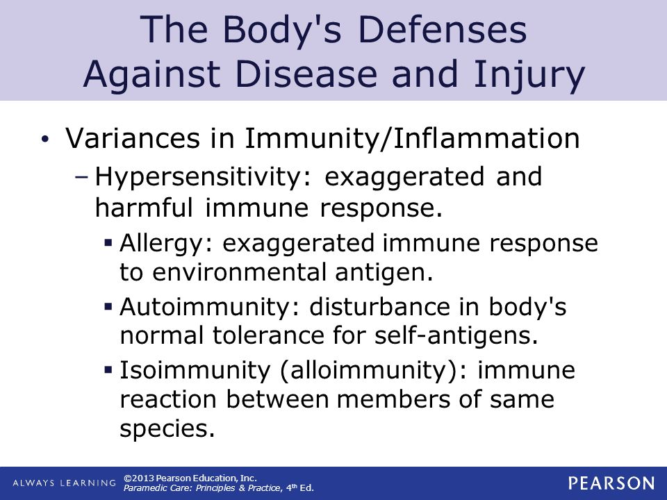 The Body s Defenses Against Disease and Injury