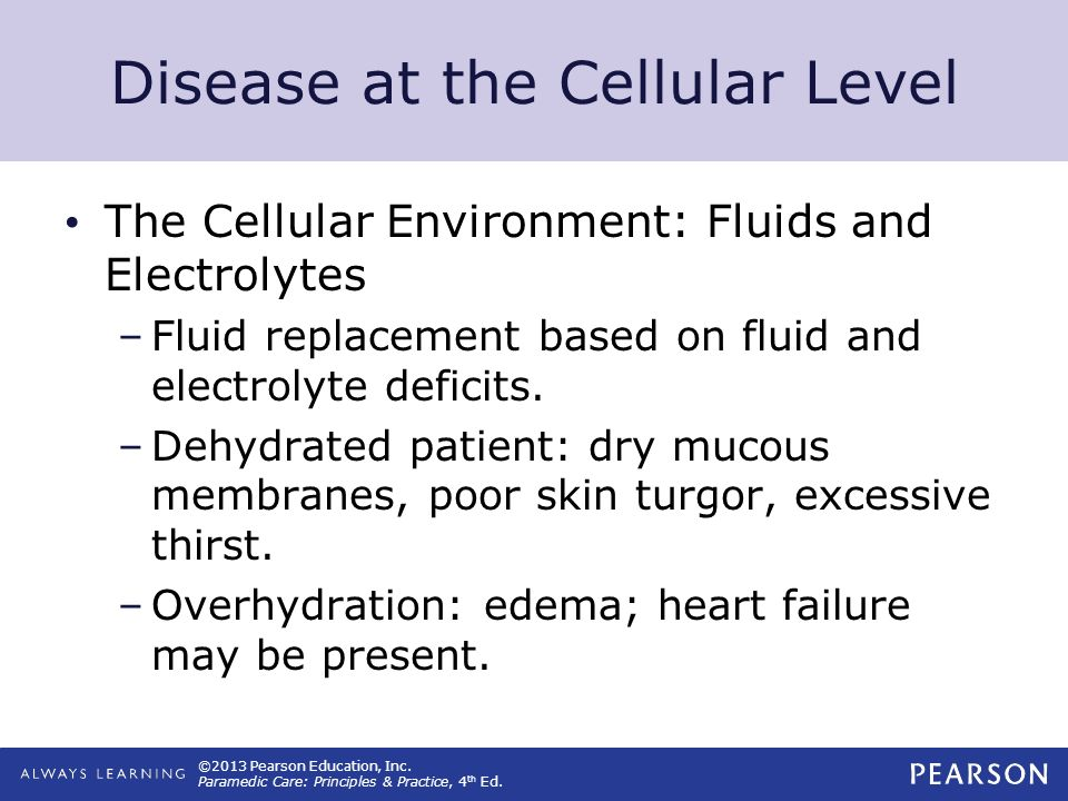Disease at the Cellular Level