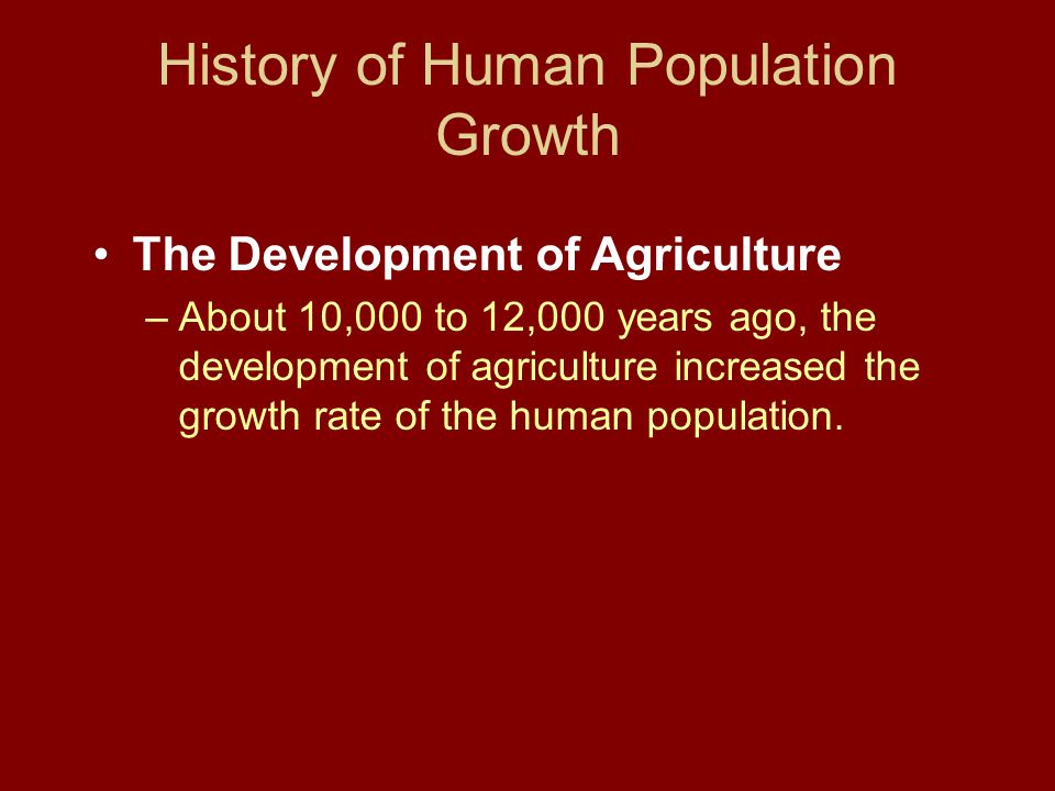 History of Human Population Growth