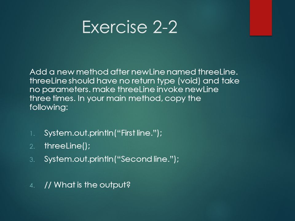 Exercise 2-2