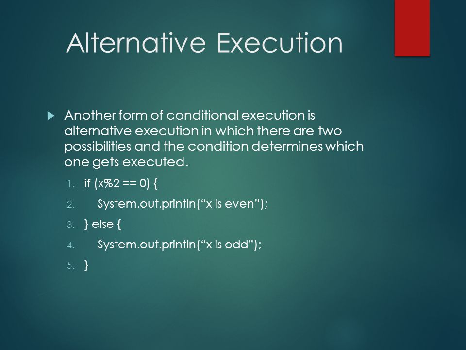 Alternative Execution