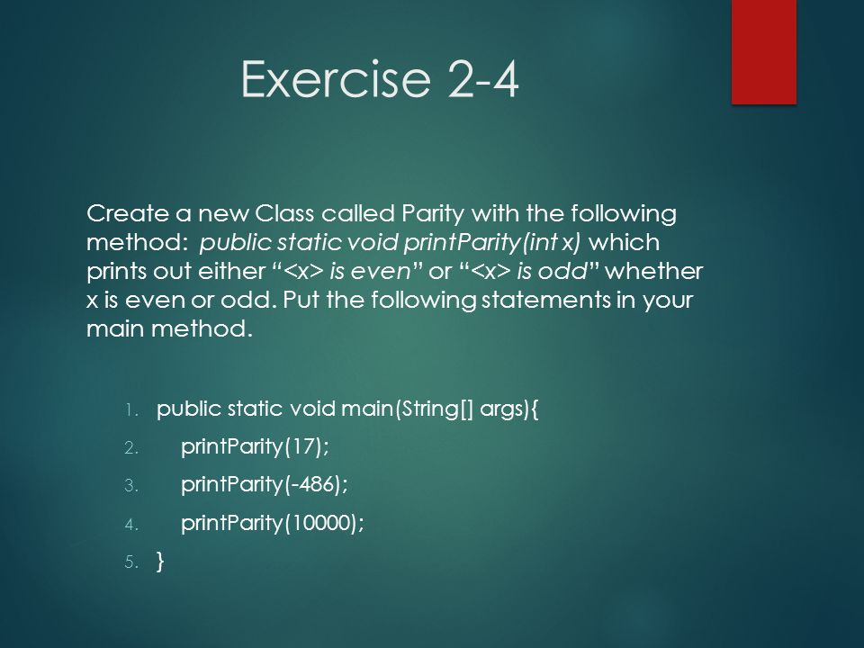 Exercise 2-4
