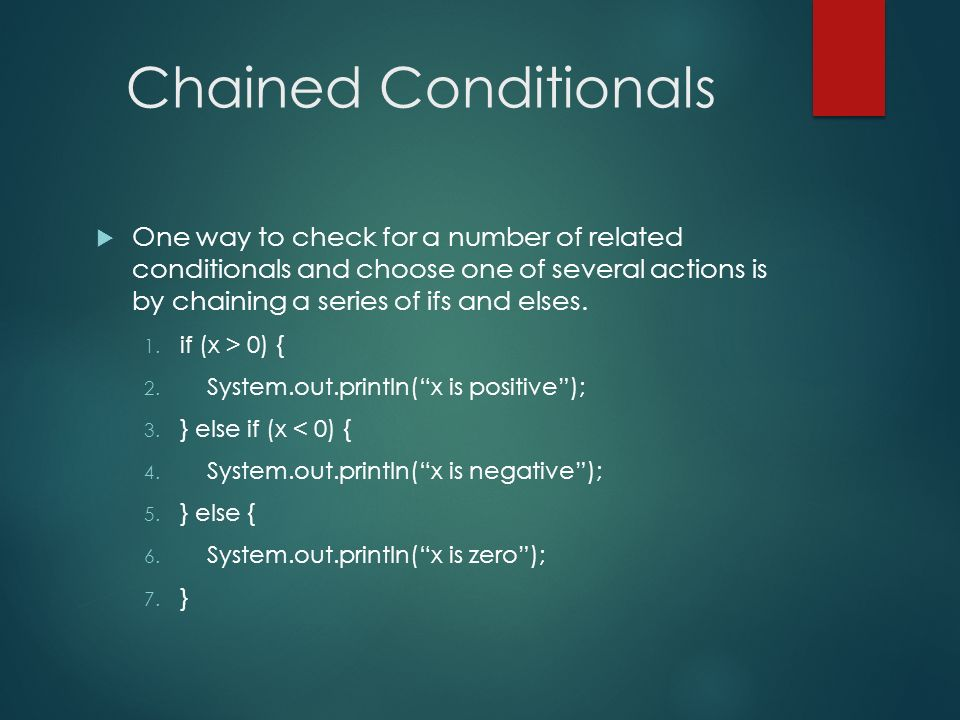 Chained Conditionals