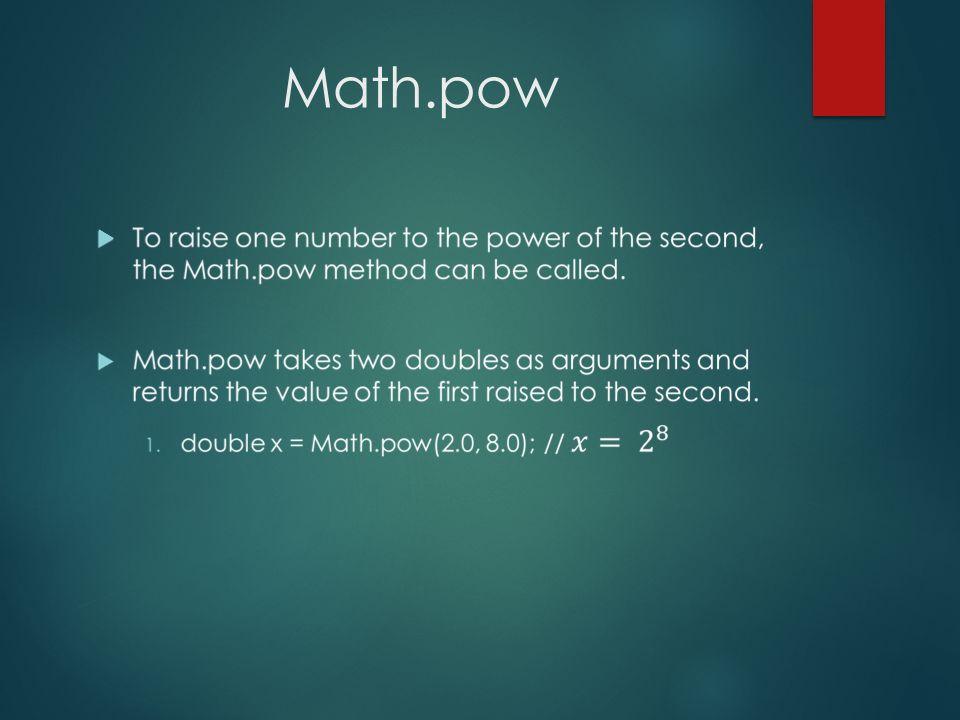 Math.pow