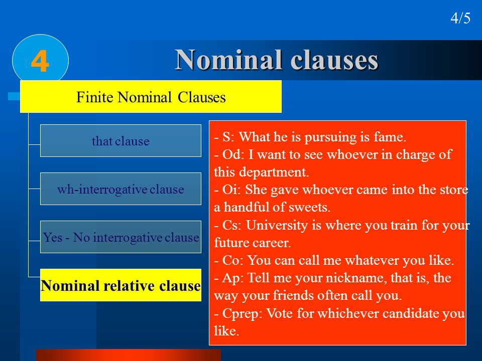 Nominal relative clause