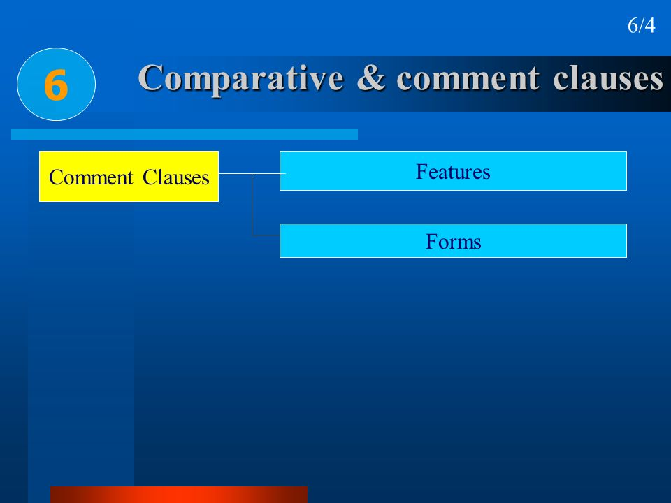 Comparative & comment clauses
