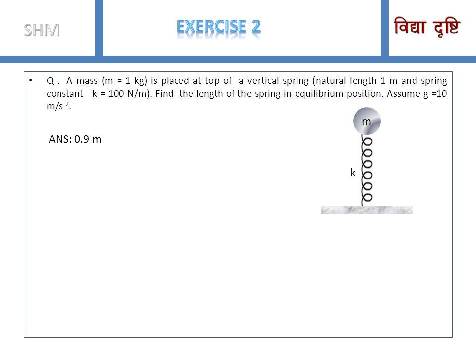 SHM ExERCISE 2.