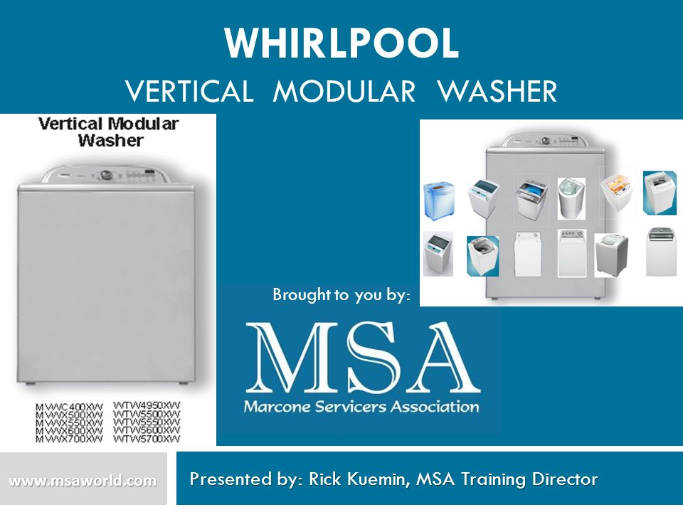 WHIRLPOOL Vertical modular Washer