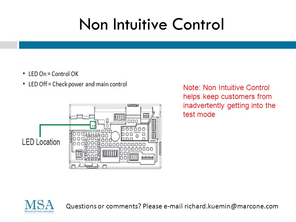 Non Intuitive Control Note: Non Intuitive Control