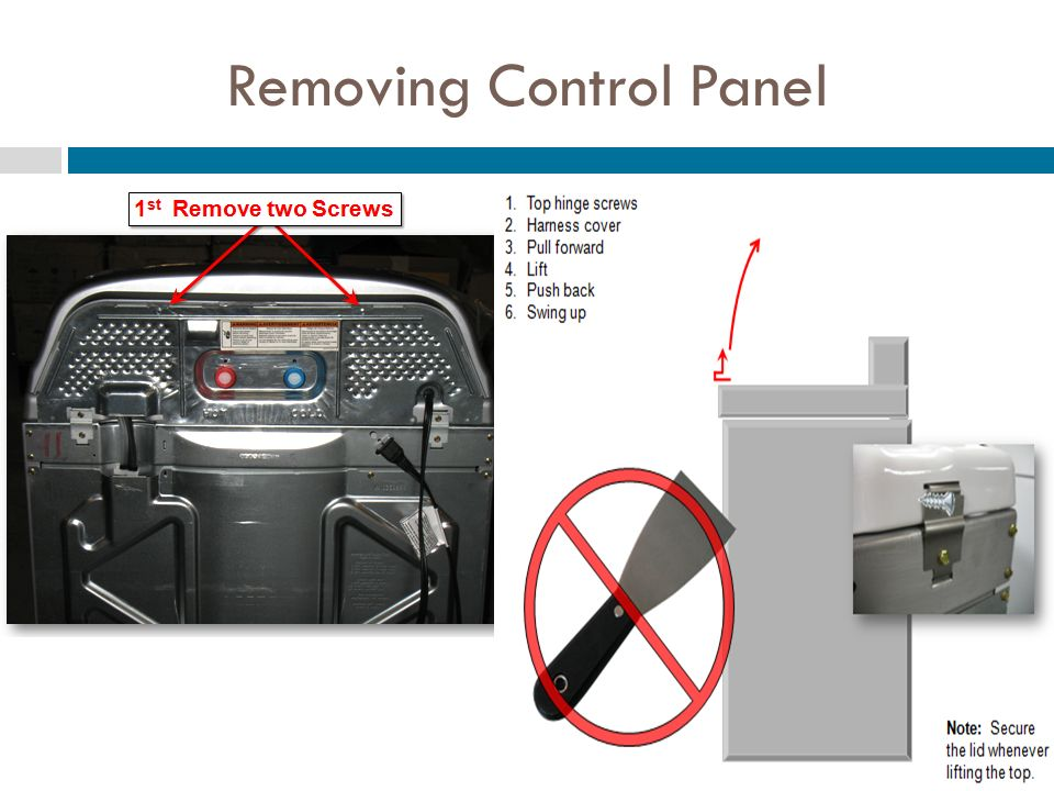 Removing Control Panel