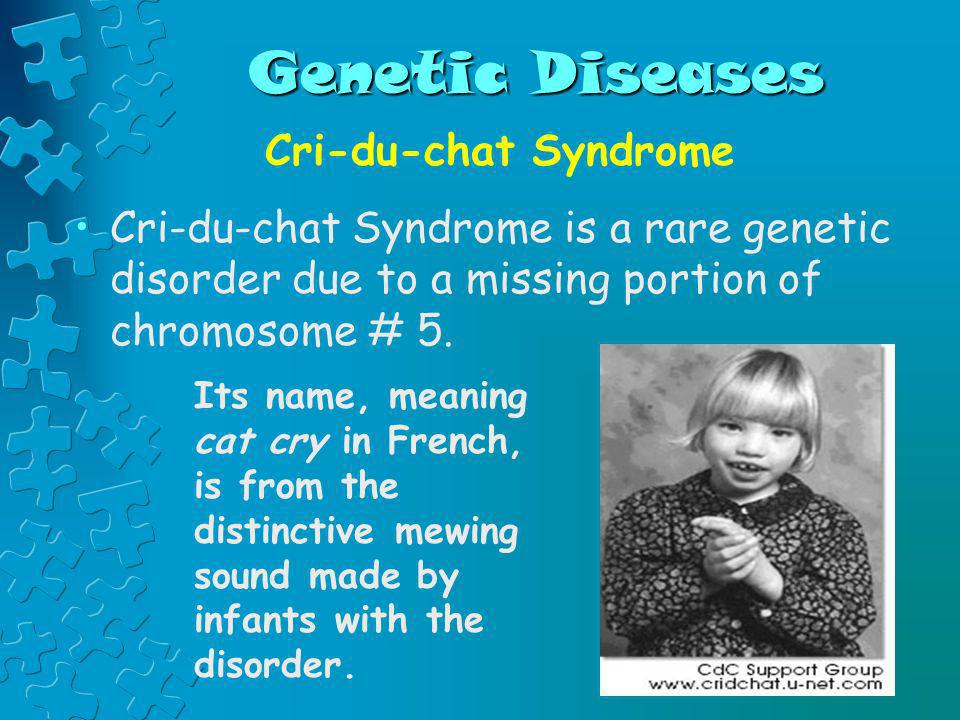Genetic Diseases Cri-du-chat Syndrome