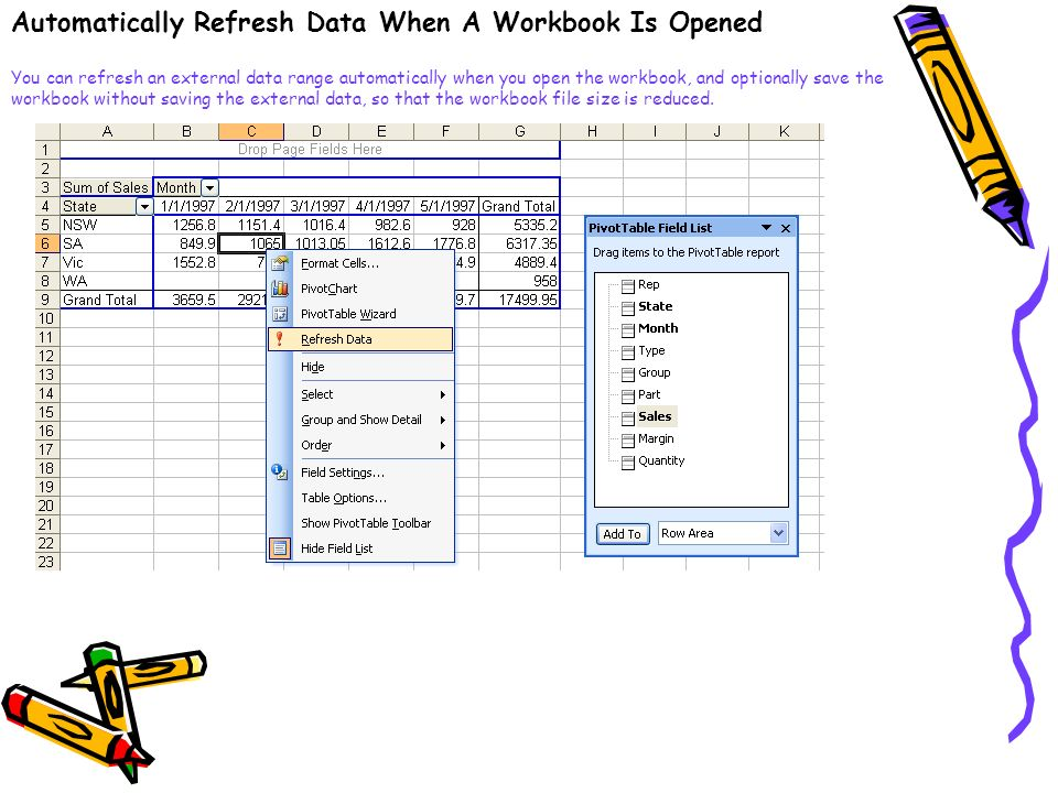 Automatically Refresh Data When A Workbook Is Opened