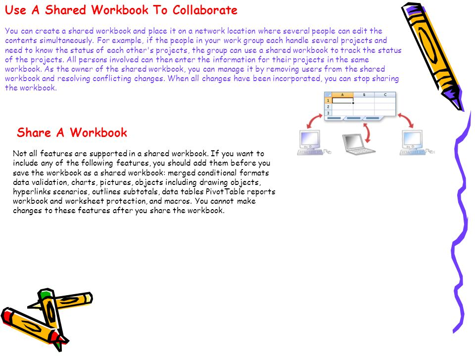 Use A Shared Workbook To Collaborate
