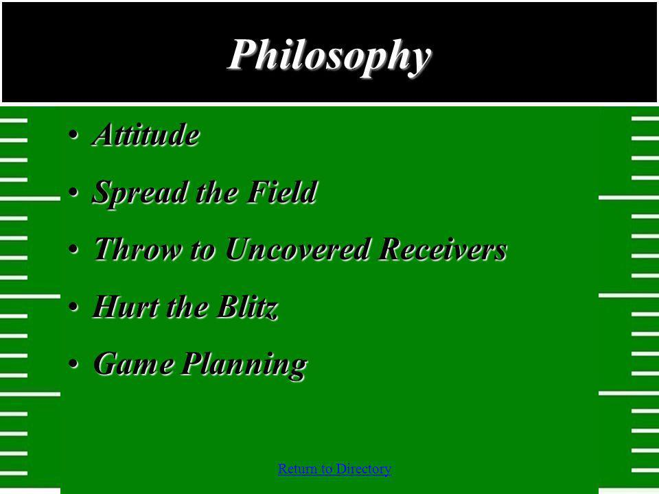 Philosophy Attitude Spread the Field Throw to Uncovered Receivers