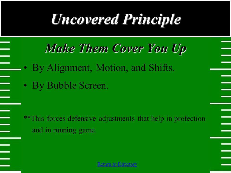 Uncovered Principle Make Them Cover You Up