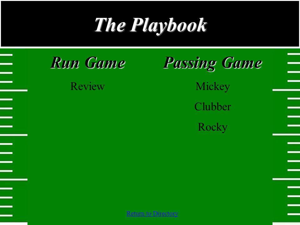The Playbook Run Game Review Passing Game Mickey Clubber Rocky