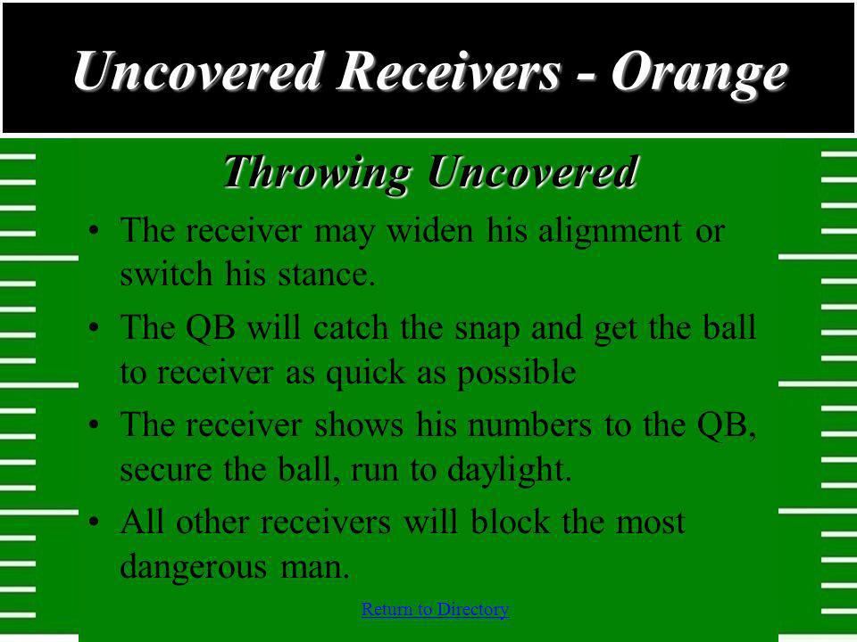 Uncovered Receivers - Orange