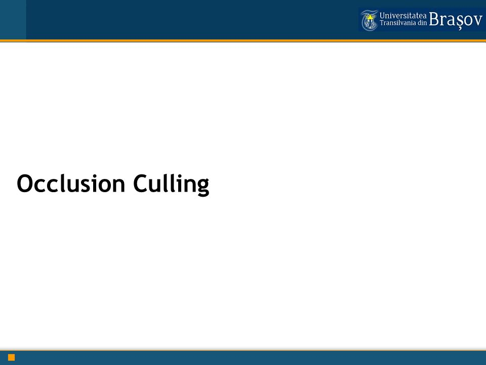Occlusion Culling