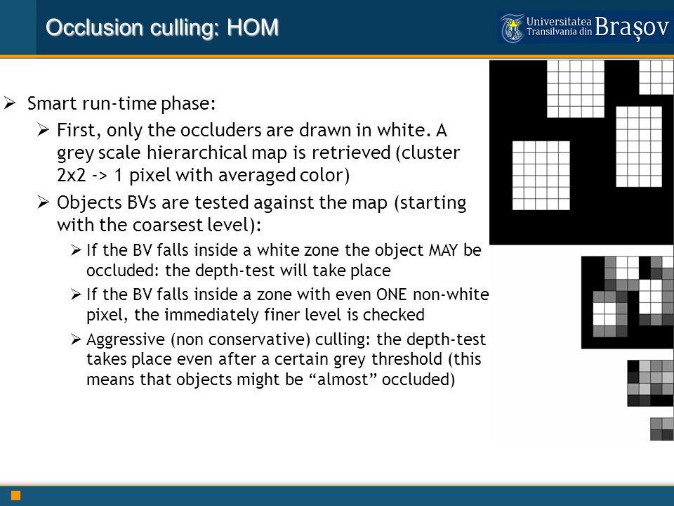 Occlusion culling: HOM