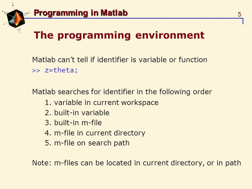 The programming environment