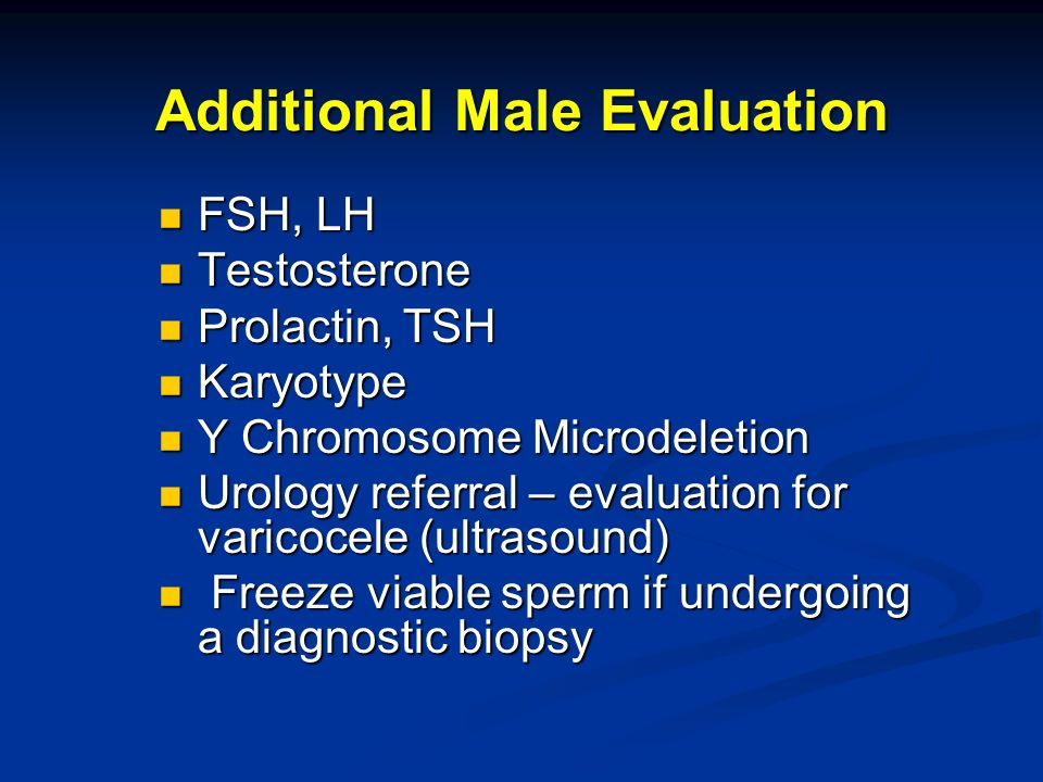 Additional Male Evaluation