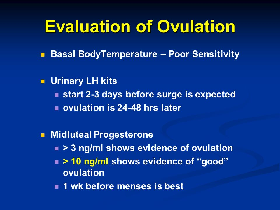 Evaluation of Ovulation